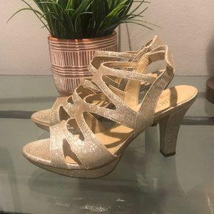 New! Gold Platform Shoes